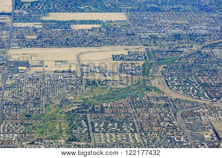 Aerial View Of Palm Springs City