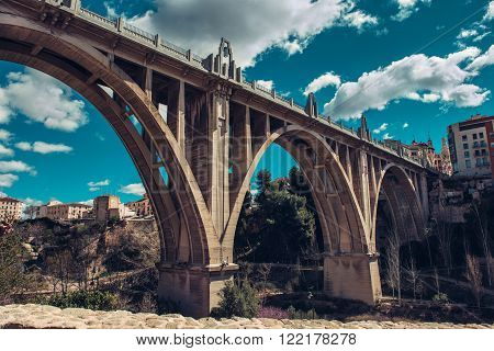 San Jordi (St. George's) Bridge , Art Deco style, one of the most famous bridge in Alcoy city.  The city is known as