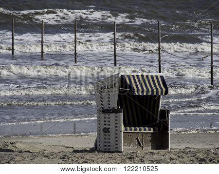 the beach of the german Island wangerooge