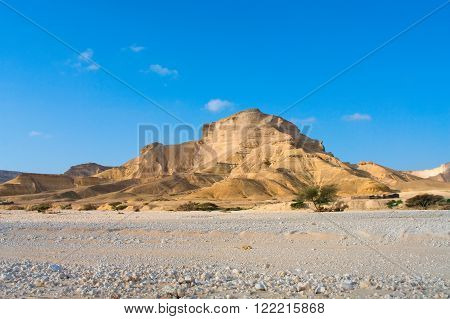 Landscape in Wadi Shuwaymiyah in Sultanate Oman poster