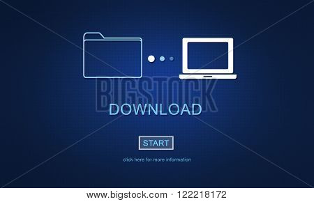 Download Data Files Information Internet Sharing Concept