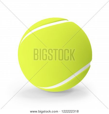 Tennis ball isolated on white background. 3d illustration