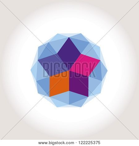 Shere Sphere Color Star logotype icon creative