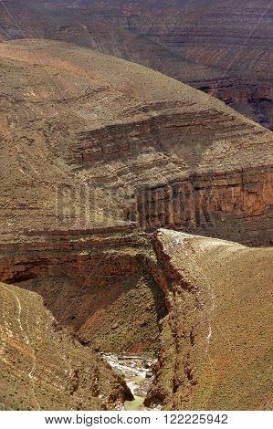 Mountain pass in Dades Gorges, Atlas Mountains, Morocco