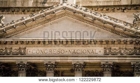 The Congreso Nacional in Buenos Aires in Argentina