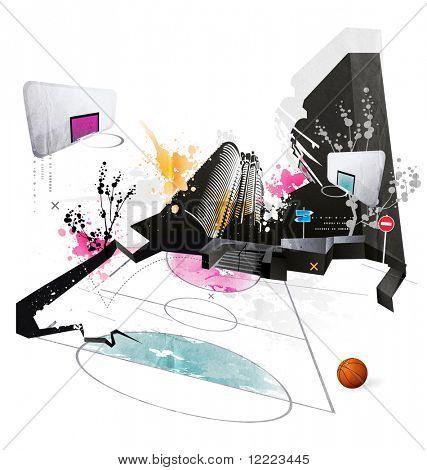 Modern grunge urban graphic design