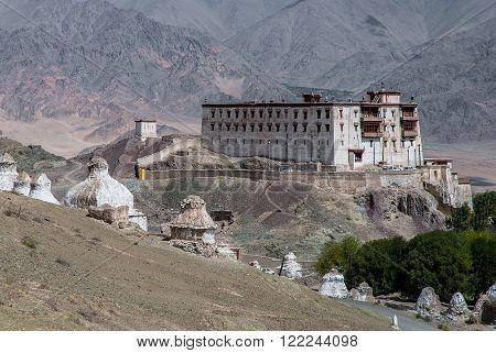 Gompa or monastery on the way to Stok Kangri, 6000+ meters high peak.