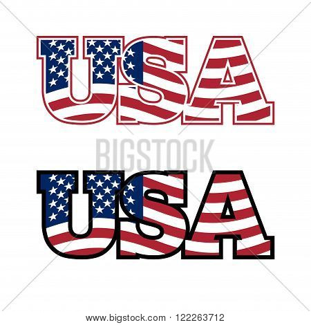 Usa Text. Flag Usa. United States Of America. Flag In Letters. Emblem For United States. Font For Am