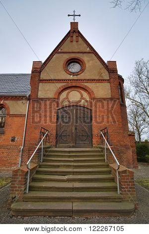 Chapel On Sudenburg Cemetary In Magdeburg, Saxony-anhalt, Germany