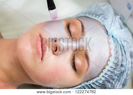 Rejuvenation, revitalization, skin nutrition. The concept of skin care. Cosmetology, cosmetology procedures,  Mask, beauty cream.