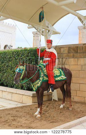 Guard In Rabat, Morocco