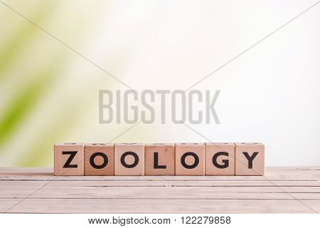 Zoology Lesson Sign On A Table