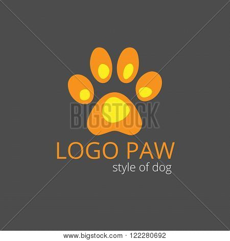 Vector logo from paw for the dog style