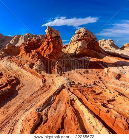 White Pocket rock formations, Vermilion Cliffs National Monument, Arizona, USA