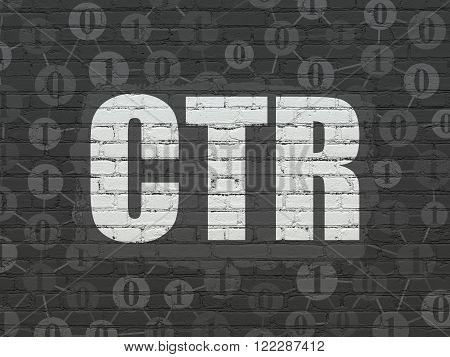 Finance concept: CTR on wall background