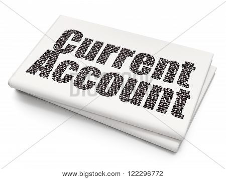 Currency concept: Current Account on Blank Newspaper background