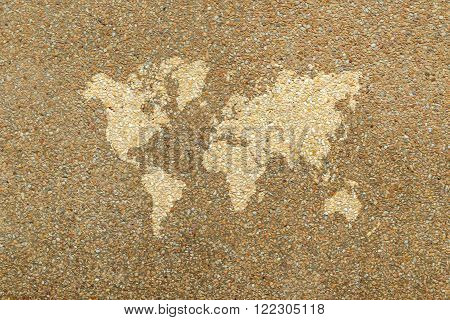 Wall Texture Surface With World Map