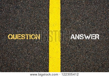 Antonym Concept Of Question Versus Answer