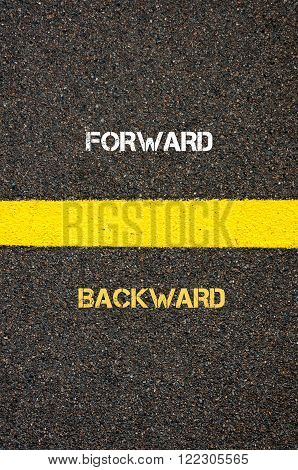 Antonym Concept Of Forward Versus Backward