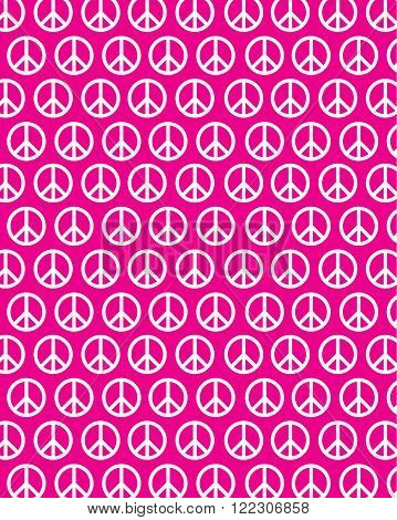 Vector peace sign pattern and back drop