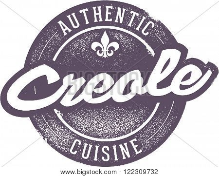 Authentic Creole Cuisine Food Stamp