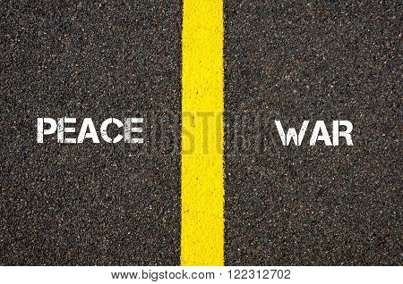 Antonym Concept Of Peace Versus War
