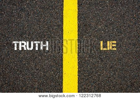 Antonym Concept Of Truth Versus Lie