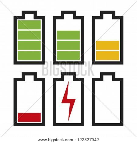 Battery Icons With Different Charge Status