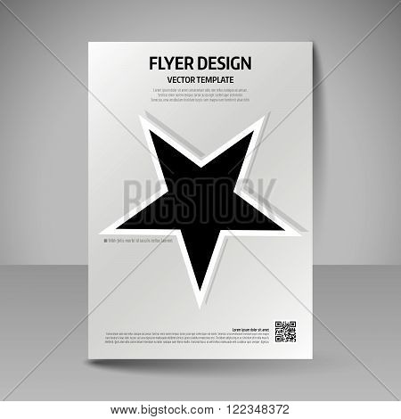Business brochure. Editable A4 poster for design cover of magazine education presentation website. Flyer template. poster
