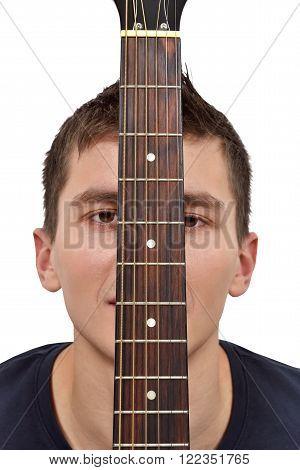 Guitarist And Guitar Fretboard