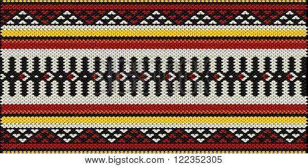 Traditional Arabian Style Sadu Weaving Illustrated Background