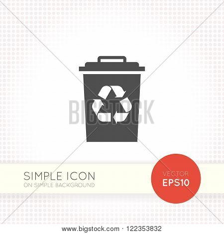 Flat Recycle Garbage tank icon. Recycle bin icon eps. Trash bin vector illustration.