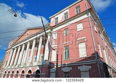 Moscow, Russia. Farmstead Count Musin-Pushkin in Razgulyai, now State University of a Civil Engineering