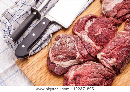 raw meat delicious veal Beef Cheeks - best meat for tasteful gourmet slow cooking