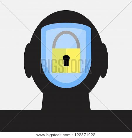 Protection of intellectual property. Patent and copyright trademark and intellectual intellectual property rights intellectual property copyright. Vector abstract flat design illustration