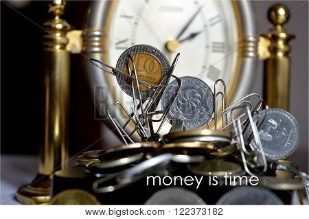 contrary to accepted the rule - not time counts money. money considers time.
