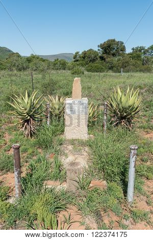 COOKHOUSE, SOUTH AFRICA - FEBRUARY 19, 2016: Grave of the Van Aardts who operated a cook house in the early 19th century near this point. This cook house eventually gave its name to the town