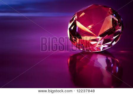 shiny diamond in purple light
