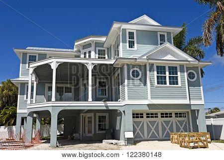 A Large New Beach House under Construction