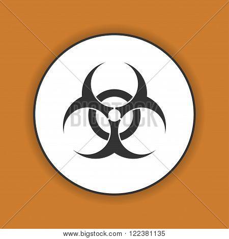 Bio hazard icon - vector web illustration easy paste to any background.