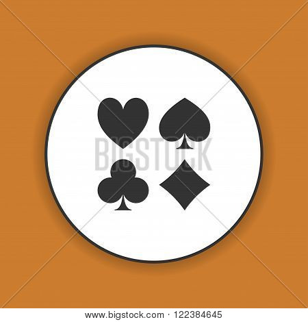 Vector Playing Card Suit Icon Symbol Set