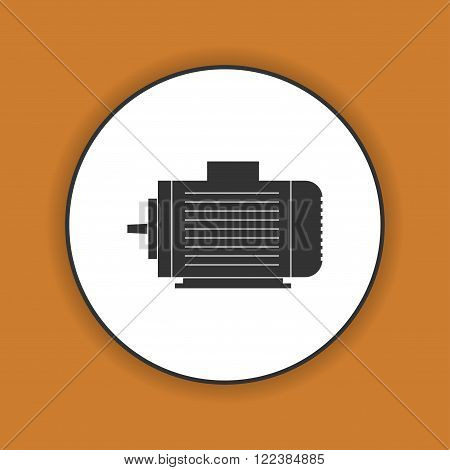 Electric motor icon Vector flat Illustration EPS