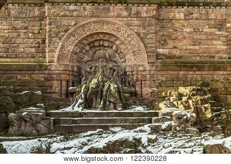 Wilhelm I Monument On Kyffhaeuser Mountain Thuringia, Germany