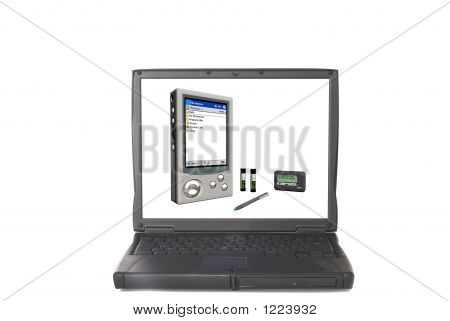 Laptop With Pda On Screen
