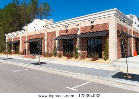Small commercial retail building with the space for rent