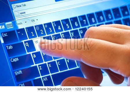 typing on touch screen virtual keyboard