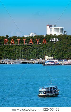 PATTAYA THAILAND - MAY 2 2011 : Pattaya beach and