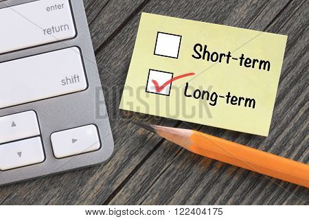 choice of long term decision versus short term