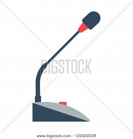 Table microphone vector illustration isolated on a white background. table microphone icon. Table microphone music equipment. Table microphone conference