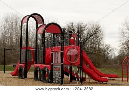 Jungle gym on a playground; cloudy day ** Note: Soft Focus at 100%, best at smaller sizes